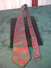 Lands' End Hand Sewn 100% Silk Paisley Designed Neck Tie-Free Shipping