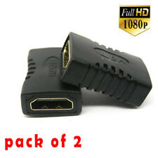 2 HDMI EXTENDER FEMALE TO FEMALE COUPLER ADAPTER JOINER CONNECTOR for 1080P HDTV