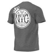 Adidas Men's New York City US OPEN TENNIS TEE Size S NWT GYM FITNESS Charcoal