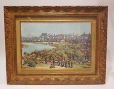 """Dipinto di Silvio Brunetto Paesaggio """"Varsavia all'Orizzonte"""" painting landscape"""