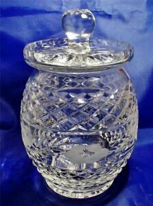 Fabulous Tutbury Lead Crystal Cut Glass Biscuit Barrel Cookie / Sweet Jar c1980