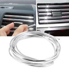 Bright Siliver Tube Decor Car Audio Air Condition Bumper Panel Grille Vents4*6mm