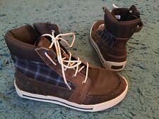 Chicos Botas Zapatos Timberland EarthKeeper Cuero Marrón UK 4 en muy buena condición