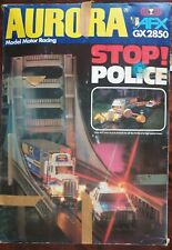 Aurora AFX GX2850 Model Motor Racing Slot Car Race Stop Police