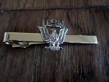 U.S MILITARY NAVY U.S.N EAGLE TIE BAR TIE TAC  CLIP ON U.S.A MADE
