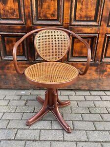 1/3 Thonet 5501 Drehfauteuil Wiener Geflecht Bugholz Vintage Retro Drehstuhl