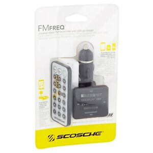 Scosche Universal Digital FM Transmitter and USB Car Charger FMTD8R USA SELLER