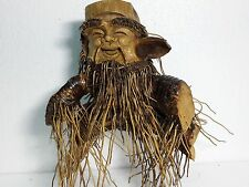 Hand Carved Mask by Natural Bamboo Root -Sculpture Vietnam statue - Very rare #7