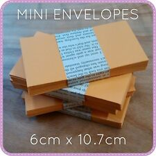 20 100 MINI SMALL ENVELOPES WEDDING BOMBONIERE FAVOURS GOLD 6 x 10cm seed kraft