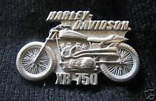 HARLEY-DAVIDSON MOTORCYCLE BIKER XR 750 VEST JACKET PIN  rare