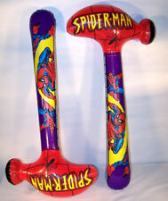 2 SPIDERMAN giant  HAMMER INFLATE TOYS 36 IN spider man