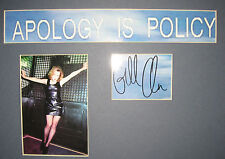 GILLIAN ANDERSON X-FILES Signed and Mounted 'Apology Is Policy' Ready to Frame