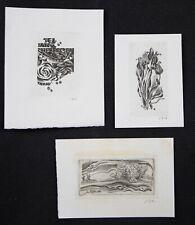 38)Nr.163- EXLIBRIS- W. Jakubowski, C2 - Kupferstich ,sign. Konvolut 2 Blätter