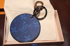 Nuevo Y En Caja Especial 2018 Louis Vuitton Split Kim Jones Bolso Encanto Llavero Azul Pacífico