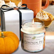 Pumpkin Pie, Handmade Soy Candles that smell AMAZING in 4oz glass jars