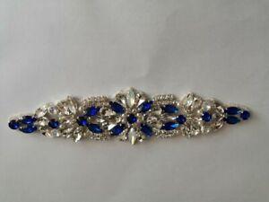 Women's Vintage Crystal Bridal Sash Rhinestone Beaded Wedding Party Dress Belt