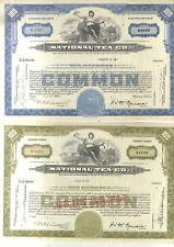 3 TITRES NATIONAL TEA CO NEW YORK CHICAGO ETATS UNIS USA ILLINOIS 1934/51/55