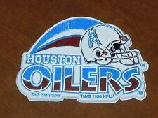 HOUSTON OILERS Vtg Tag Express NFL RUBBER FRIDGE MAGNET Standings Board texans
