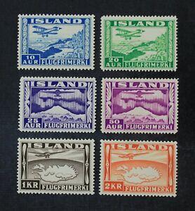 CKStamps: Iceland Stamps Collection Scott#C15-C20 Mint H OG #C16 Used