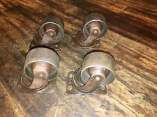 """4 Vintage Cast Iron Wheels 2-3/4"""" Height Swivel Plate Industrial Casters"""