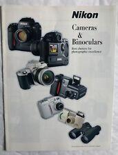Nikon Cameras & Binoculars  Product Brochure, 2000 Era