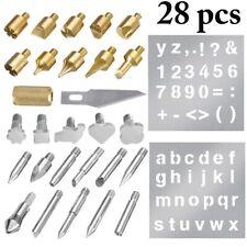28pcs Wood Burning Set Tool Pen Pyrography Supplies Iron Tips Art Craft Kit A794