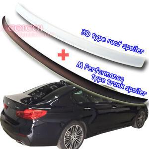 Painted BMW 17~ G30 5-series Sedan 3D type roof+ M5 P type trunk spoiler◎