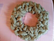 "BURLAP WREATH -  Handmade Ready-to-Decorate - 20"" total diameter"