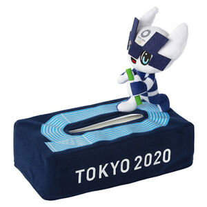 Tokyo Olympic Games 2020 Mascot MIRAITOWA Tissue Box Cover Case Japan Official
