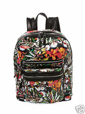 NWT $345 + Tax  Ash Danica Womens Backpack Floral Print Leather 125042
