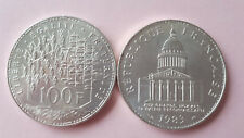 1 PIECE 100 FRANCS ARGENT PANTHEON 1983 TTB