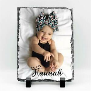 Personalised Photo Frame Made on Real Rock Slate