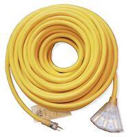 12 Gauge Heavy Duty Lighted Extension Cords 3-Outlet SJTW Indoor / Outdoor 12 3