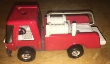 Topper Zoomer Boomer Pressed Steel Toy Fire Truck Rubber Wheels Vintage Hong Kon