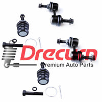 4PC Front Lower Ball Joints Sway Bars Kit For Subaru Forester Impreza