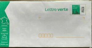 Lot de 10 ENVELOPPES lettre verte 20 gr neuves prêt-à-poster