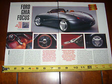 FORD GHIA FOCUS CONCEPT CAR - ORIGINAL 1993 ARTICLE