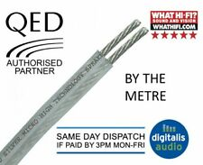 QED Silver Micro Slimline OFC Speaker Cable for HiFi, Home Cinema Systems