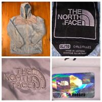 The North Face Girl's Blue And Silver Oso Full Zip Fleece Hoodie Size XL