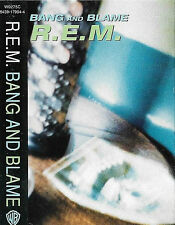 R.E.M. ‎Bang And Blame CASSETTE SINGLE Alternative Rock W0275C Warner Bros.
