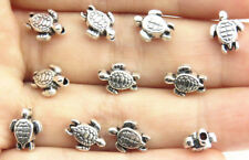 Wholesale 55pcs Silver Two-Sided Nice sea turtle charms DIY Spacer Beads