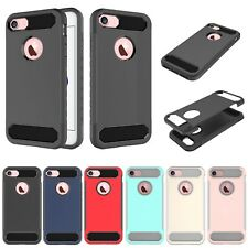 Carbon Fiber Rubber Silicone Shockproof Case Cover Skin For iPhone Samsung ZTE