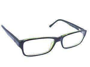 Ray-Ban RB 5169 2383 Black Green Rectangular Eyeglasses Frames 54-16 140