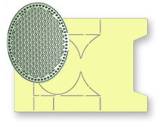 All Occasion Dies Small Oval Stepper Card Template & Oval Trellis Die - R Addams