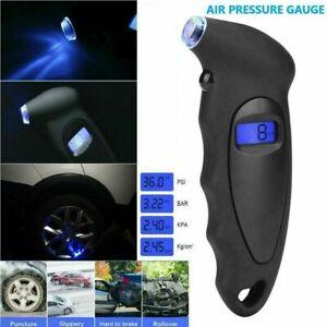 LCD Digital Tire Tyre Air Pressure Gauge Tester Tool For Auto Car Motorcycle UK