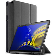 For Samsung Galaxy Tab S4 Case Exact Design w/ Pencil Holder Smart Cover Black