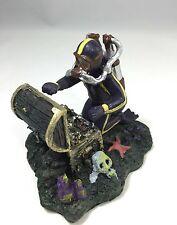 Diver Treasure Chest Ornament for Aquarium Fish Tank artifical Decoration 12183