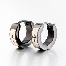 Huggie Earring Studs Cross Small Ear Hoop Stainless Steel Earrings for Men Women