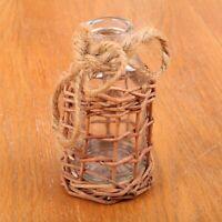 Clear Glass Bottle Jar In Wicker