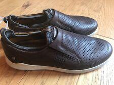 ECCO Men's Soft 7 Perf Slip On Sneaker SIZE US 8 / 41EU. Dark Brown